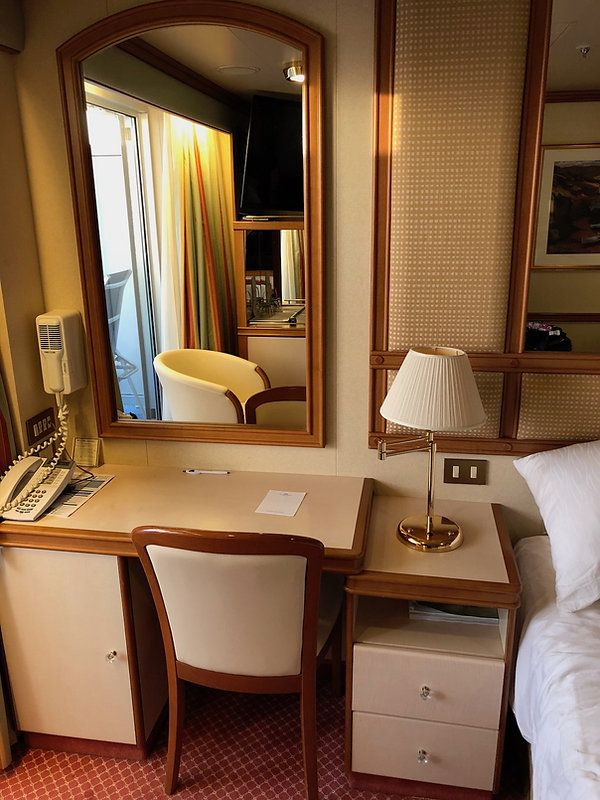 Stateroom desk in Crown Princess cruise ship