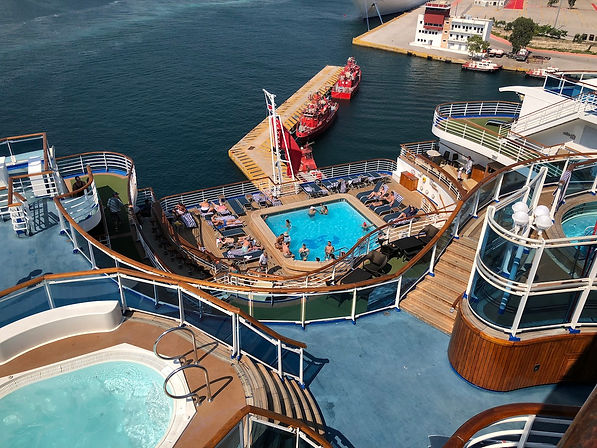 "Crown Princess's ""Terrace Pool"" at the ship's stern"