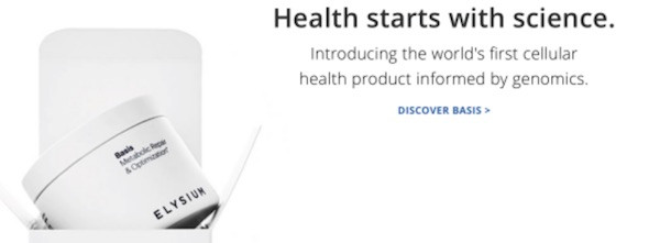 Introducing the world's first cellular health product informed by genomics -- Elysium Basis