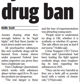 Synthetic Drug Ban - MX Brisbane