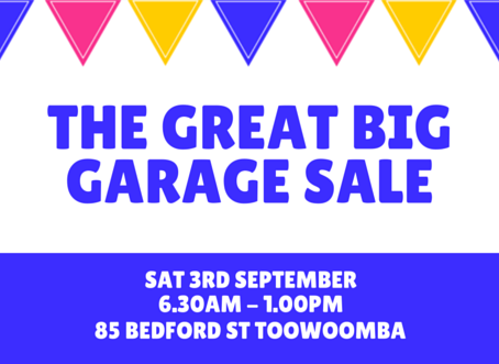 The Great Big Garage Sale - Save the Date