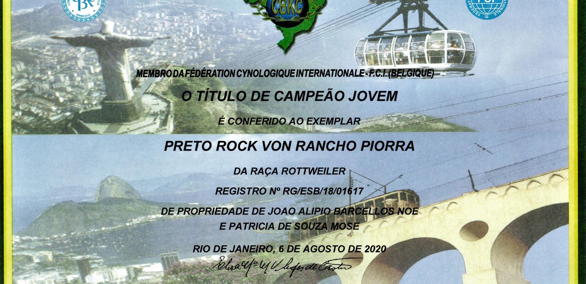 JOVEM CAMPEÃO CBKC 2019