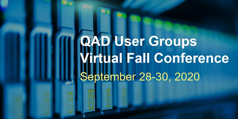 QAD User Group Virtual Fall Conference