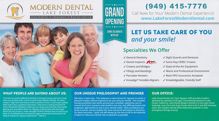 Dental Promotion Invisalign, Implant, New Patient Special