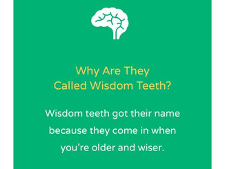 "Wisdom Teeth Are Also Called ""Thirds"""