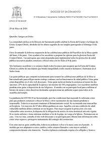 Carta del Obispo Soto invitando a regres