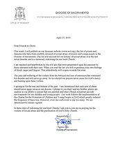 Release of Clergy Abuse List Letter 0427