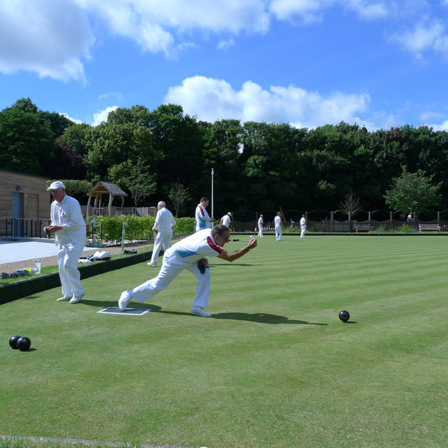 Grosvenor Bowls Club in action