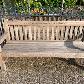 Dusty's memorial bench