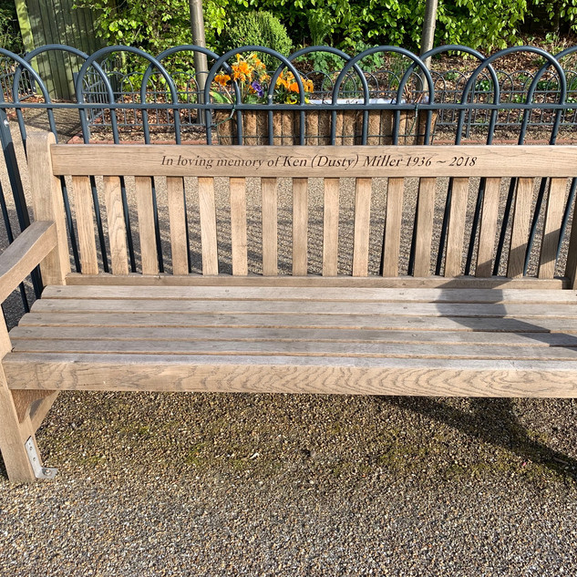 Dusty's memorial bench