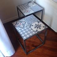 Tavolini ferro e cementine