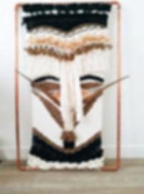 Tissage masque africain Malinke