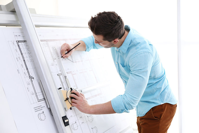 stellar it solutions miami florida engineering and design architect drawing plans on white background