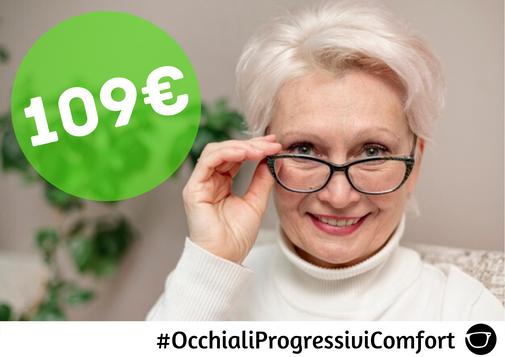 OCCHIALI PROGRESSIVI COMFORT 109€