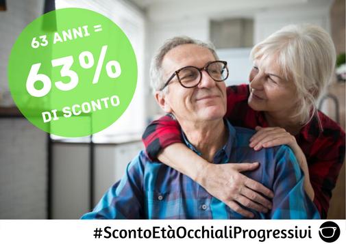 SCONTO ETA' OCCHIALI PROGRESSIVI FINO A 70%