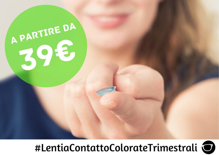 LENTI A CONTATTO COLORATE TRIMESTRALI DA 39€