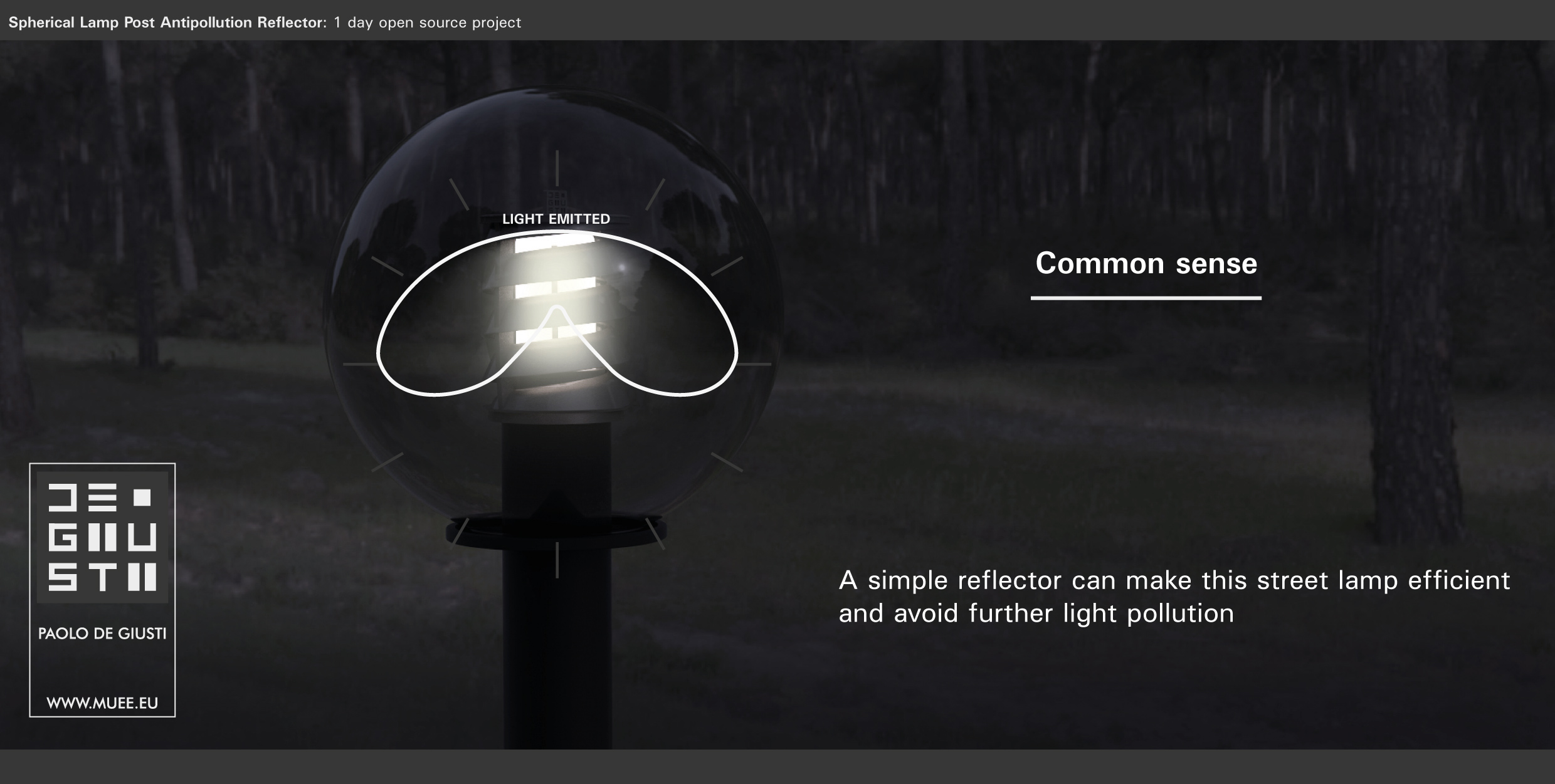 Spherical Lamp Post Antipollution Reflector by Paolo De Giusti-04