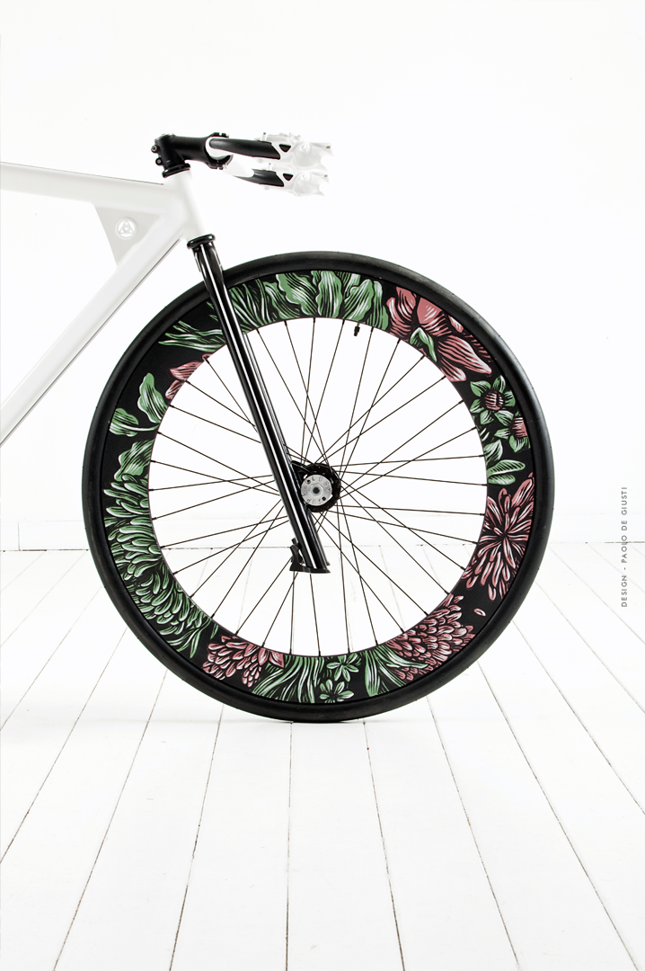superology bike front wheel painted