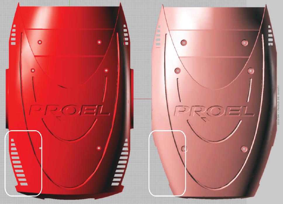 PROEL TESTAMOBILE SPOT WASH design italian by Paolo De Giusti plastic mold