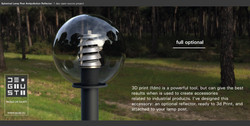 Spherical Lamp Post Antipollution Reflector by Paolo De Giusti-03