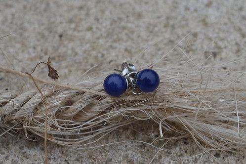 Boucles d'oreilles en Sodalite et Argent 925