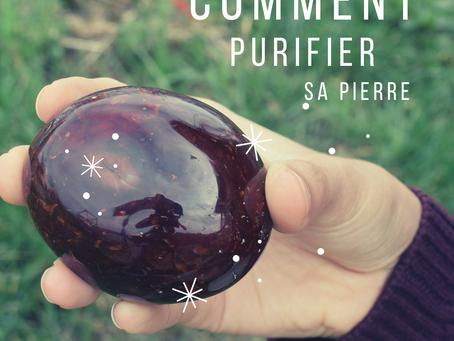 Comment purifier/nettoyer sa pierre semi-précieuse ?