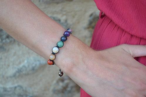 Bracelet 7 chakras version shamballa