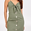Thumbnail: Tie Front Multi Button Linen Dress