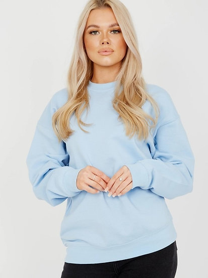 Oversized Sweatshirt - Blue