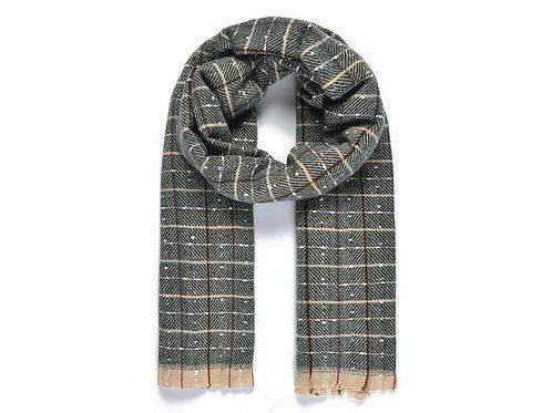Black Grid blanket scarf