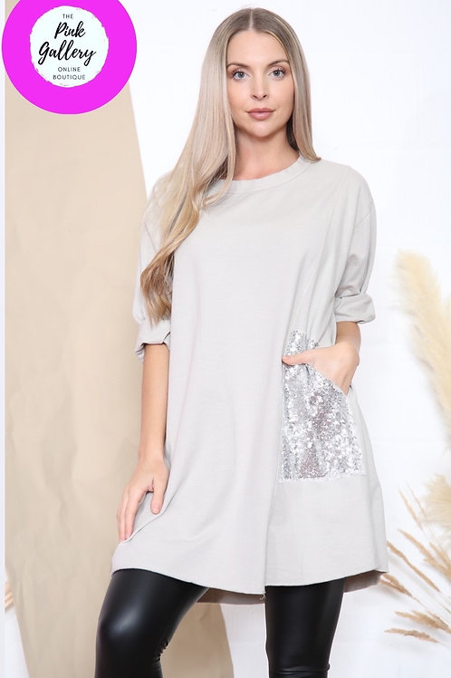 Sequined Pocket Tunic