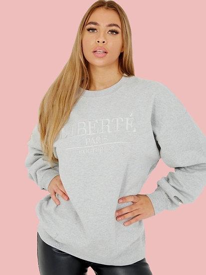 Oversized Liberte Sweatshirt - Grey