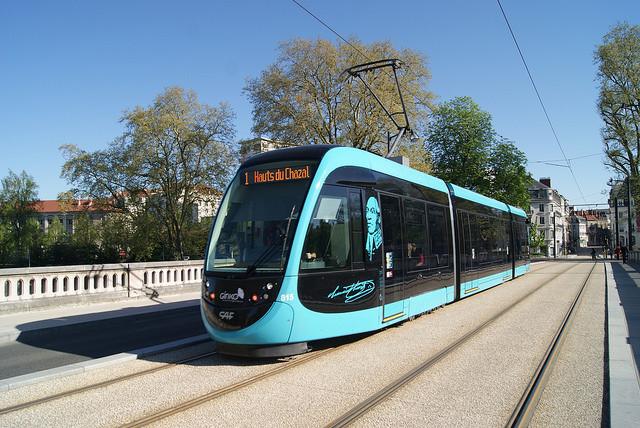 Metro de Besançon, na França.
