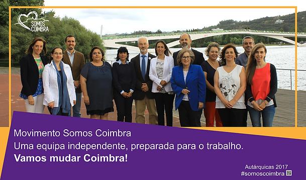 candidatos Somos Coimbra #somoscoimbra