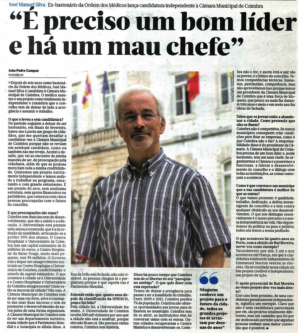 entrevista  josé manuel silva #somoscoimbra