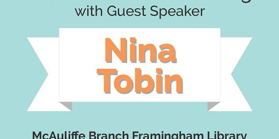 October General Meeting with Guest Speaker Nina Tobin!