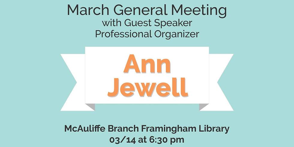 March General Meeting w/ Guest Speaker