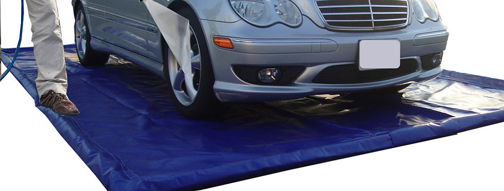 Car Wash Mat   Water Containment & Reclamation System Mat   10' x 23' OD