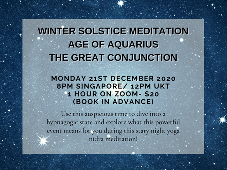 Winter Solstice Meditation 2020 - The Age Of Aquarius And the Great Conjunction