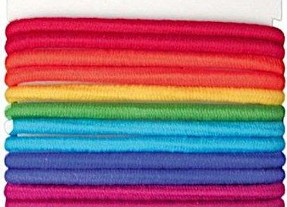 Denman No Damage Elastics, Multi-Coloured Large (18)