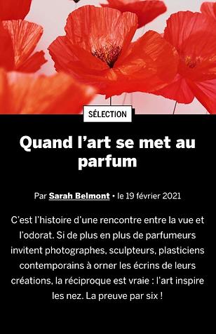 BeauxArts - Quand l'art se met au parfum