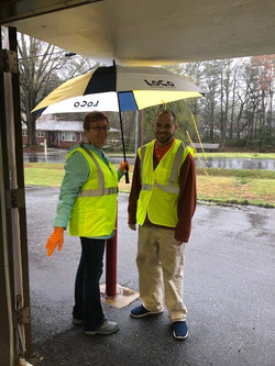 Monique & Mark in rain
