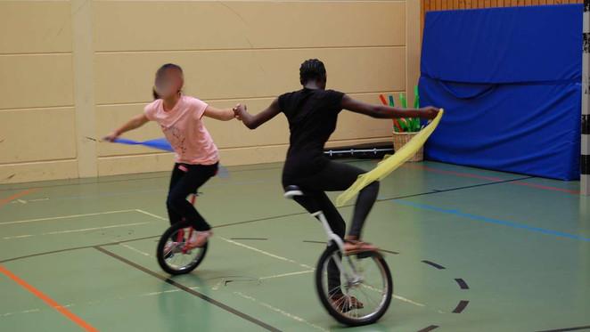 Rasantes Einradfahren