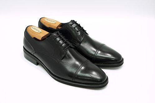 Black Calf Leather Cap-toe Derby N03