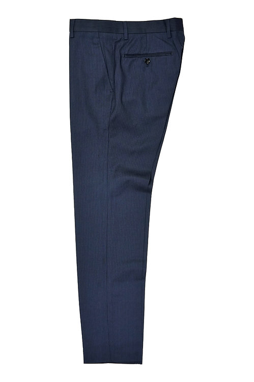 Navy Pin Stripe Trousers T511