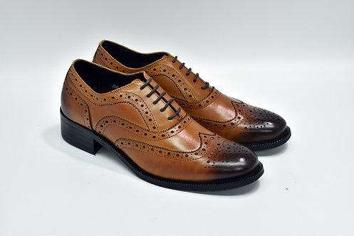 Ladies Brown Calf Leather Brogue Oxford J53