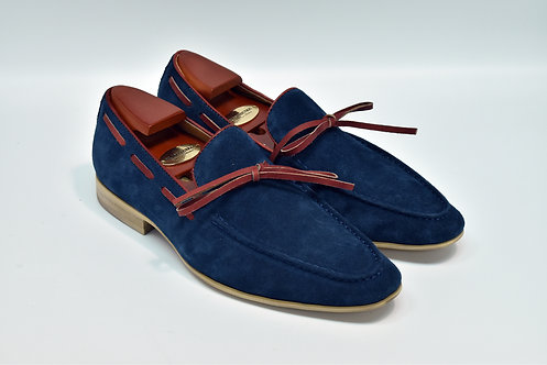 Navy Suede Loafers H94