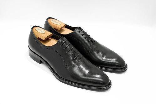 Black Calf Leather Wholecut Oxford N10
