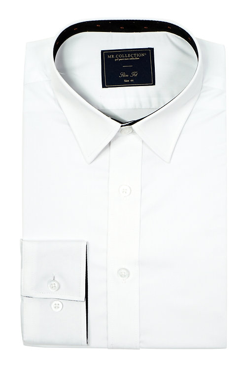 Plain White Elastic Shirt RH02