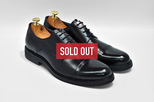 Black Calf Leather Cap-toe Derby